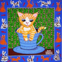 Cute Cuppa Kitty    SOLD