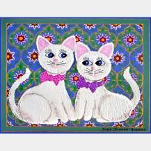 2 White Cats