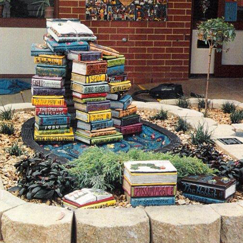 Bookstack Water Feature