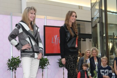 photo of artist and model marie jonsson harrison and hillivi harrison, burnside village, mothers day fashion parades