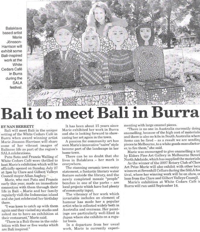 Northern Argus – Sala Bali Exhibition 2008