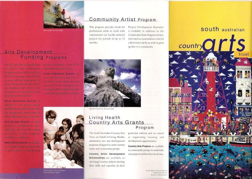 South Australia Country Arts Brochure