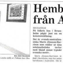 Swedish Newspaper Bruzaholm 2000