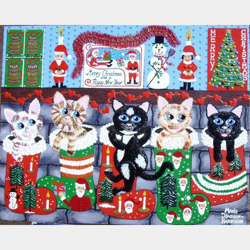 On The First Day Of Xmas   (prize winning artwork)    SOLD