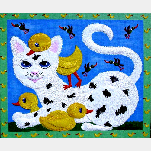 "Peking Cat   ""SOLD"""