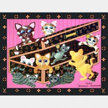 'Cats In Case' Giclee Print