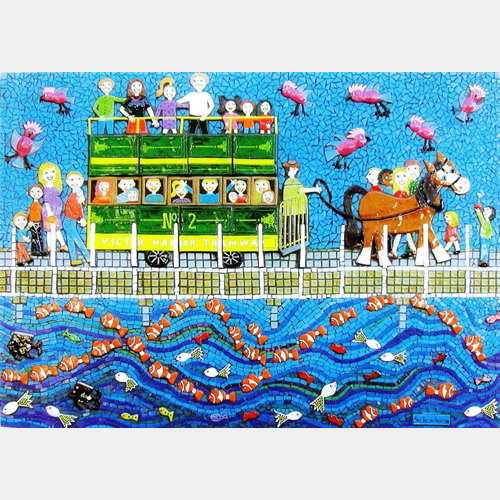 'Come & See Granite Island With Me' Ceramic and Mosaic