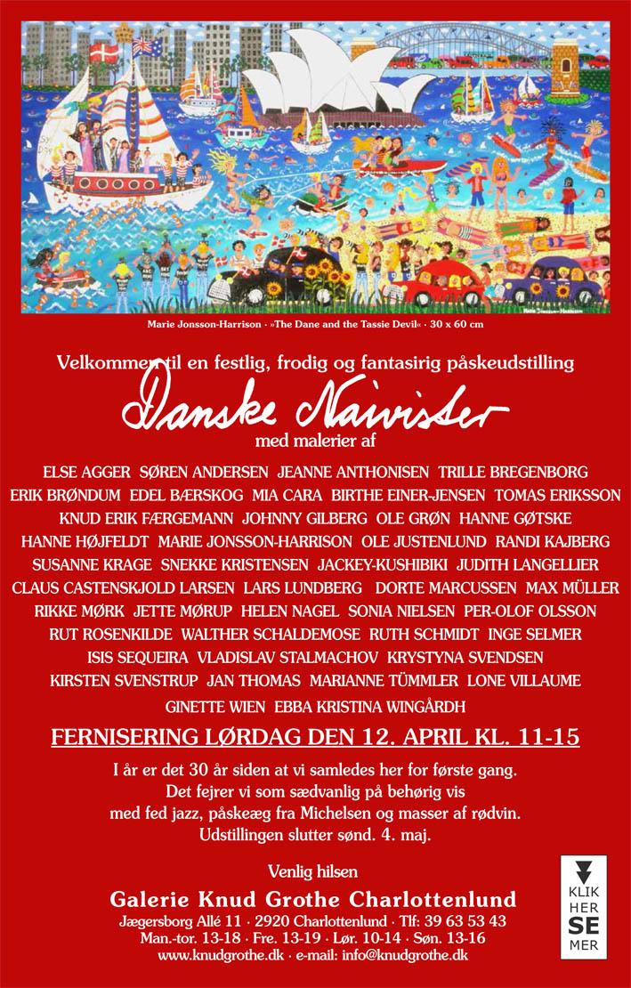 invitation to Gallerie Knud Grothe, featuring painting by artist marie jonsson harrison