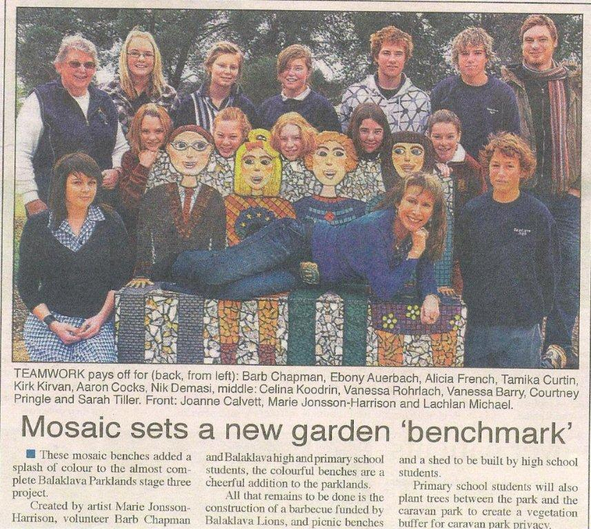 Front Page The Plains Producer 2008 Mosaic Seat Project Balaklava