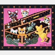 Cats In Case  (GICLEE PRINT)