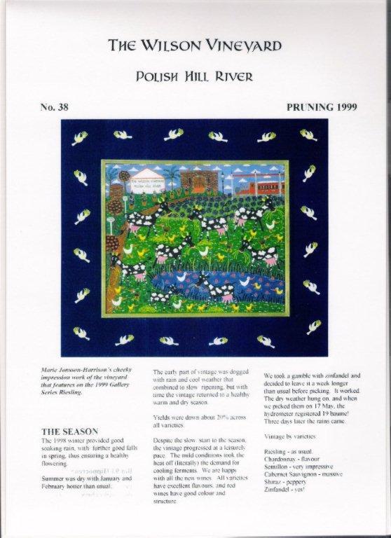 Wilson Vineyard White Label 1997 Magazine