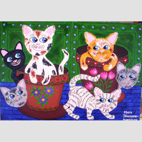 Cats in pots